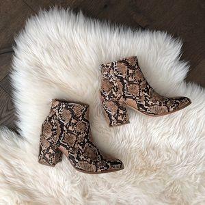 Steve Madden Snake Print Block Heel Boots